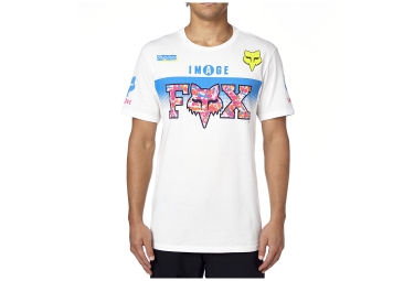 fox t shirt daytona blanc