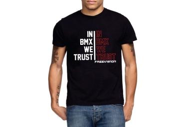 freevision t shirt trust bmx noir rouge