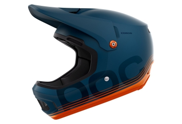casque integral poc coron soderstrom edition bleu orange
