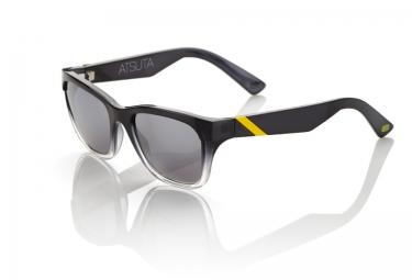 100 lunettes atsuta noir argent iridium