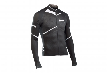 northwave maillot manches longues blade noir blanc