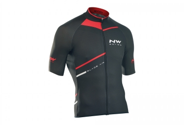 northwave maillot manches courtes blade air noir rouge