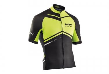 northwave maillot manches courtes blade noir jaune
