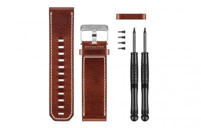garmin bracelet cuir marron fenix 3