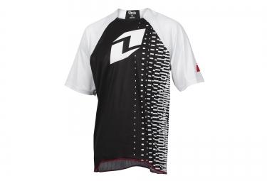 one industries maillot manches courtes vapor noir blanc