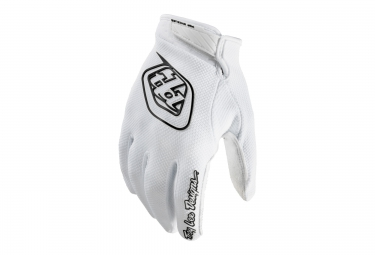 troy lee designs paire de gants longs gp air blanc