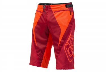 troy lee designs 2016 short enfant sprint reflex rouge orange