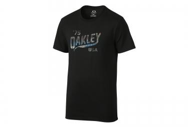 oakley tee shirt legs coupe droite noir