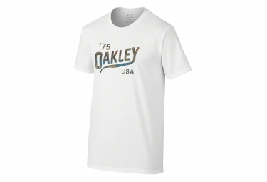 oakley tee shirt legs coupe slim blanc