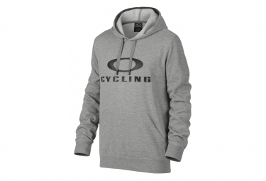 oakley sweat a capuche cycling coupe droite gris