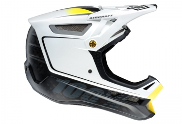 casque integral 100 aircraft bi turbo blanc noir