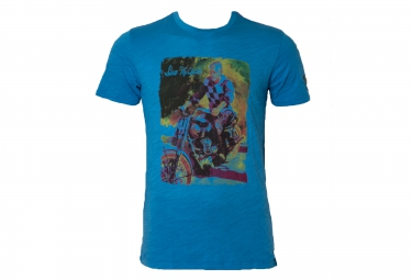 troy lee designs t shirt premium 141 bleu