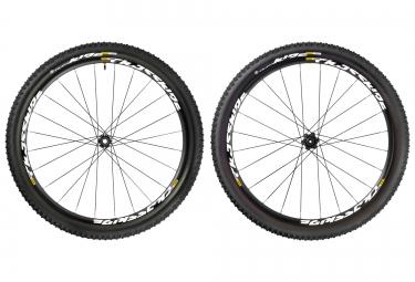 mavic paire de roues crossride ust 29 wts 6tr av 15x100 ar 12x135 142 pneus quest 2