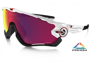 oakley paire de lunettes prizm road jawbreaker white prizm road ref oo9290 05