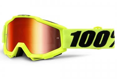 100 masque accuri fluo jaune ecran iridium rouge