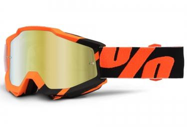 100 masque accuri wildblast orange noir ecran mirror or