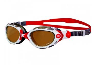 zoggs lunettes de natation predator flex polarized blanc rouge