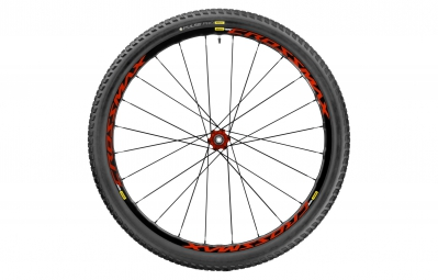 mavic roue arriere crossmax elite 27 5 12x142mm corps xd pneu pulse pro 2 25 rouge