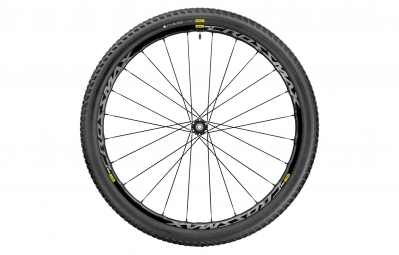 mavic roue avant crossmax elite 29 boost 15x110mm pneu pulse pro 2 25 noir