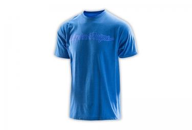 troy lee designs t shirt signature bleu