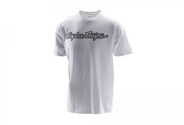 troy lee designs t shirt signature blanc