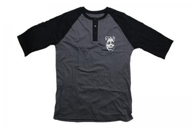 cult t shirt manches 3 4 face henley noir
