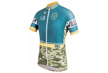 santini maillot manches courtes tdu willunga camo vert