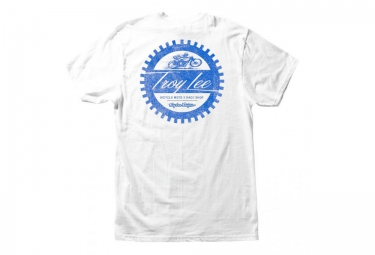 troy lee designs t shirt geared blanc l