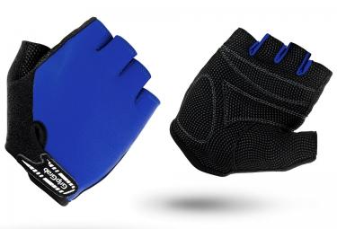 gripgrab gants courts enfant x trainer bleu