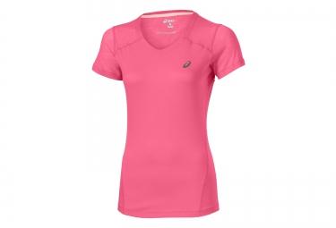 asics maillot fuzex rose femme