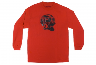 troy lee designs t shirt ghost rider rouge