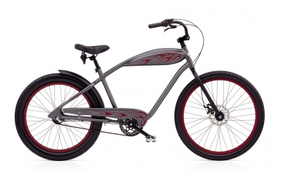 electra 2016 velo complet beach cruiser relic 3i gris rouge