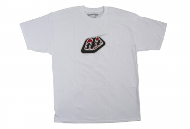 troy lee designs t shirt classic logo blanc xl