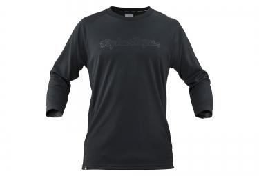 troy lee designs maillot manches 3 4 ruckus noir