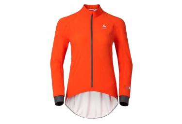 odlo veste a capuche impermeable tyfoon orange femme