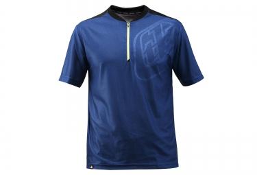 troy lee designs maillot manches courtes skyline race bleu noir