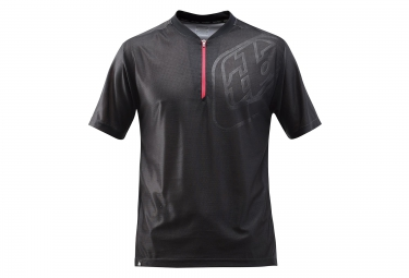 troy lee designs maillot manches courtes skyline race noir rouge