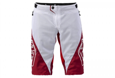 troy lee designs 2016 short sprint blanc rouge