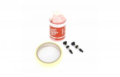 msc tubeless kit 2 roues 25mm 2 valves black seal