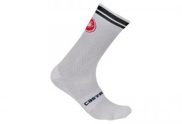 castelli chaussettes homme free kit blanc noir