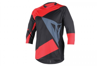 dainese maillot manches 3 4 trailtec rouge noir