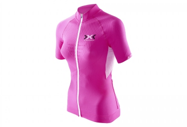 x bionic maillot the trick bike rose femme
