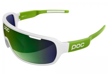 poc lunettes do blade blanc vert iridium