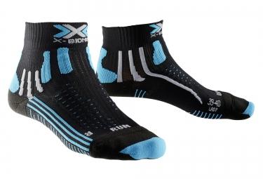 chausssettes de running x bionic effektor running noir bleu femme