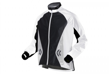 x bionic veste coupe vent spherewind running blanc noir