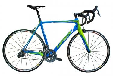 viper velo route puy de dome carbone shimano ultegra di2 11v bleu vert
