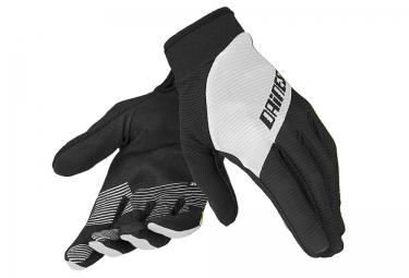 dainese gants longs rock solid c noir blanc