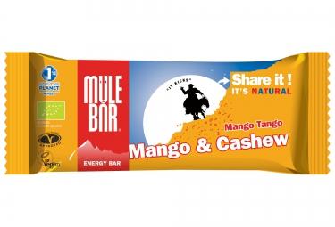 mulebar barre energetique mango tango mangue noix de cajou 40g