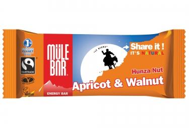 mulebar barre energetique hunza nut abricot noix 40g