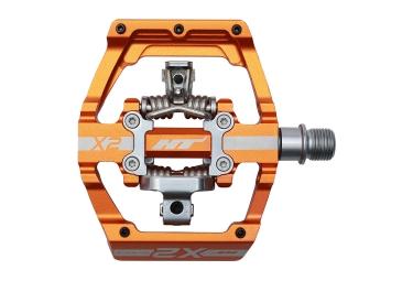 ht paire de pedales automatiques x2 orange